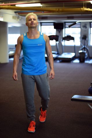 Shirt: Hugo Boss // Pants: Reigning Champ // Shoes: Nike